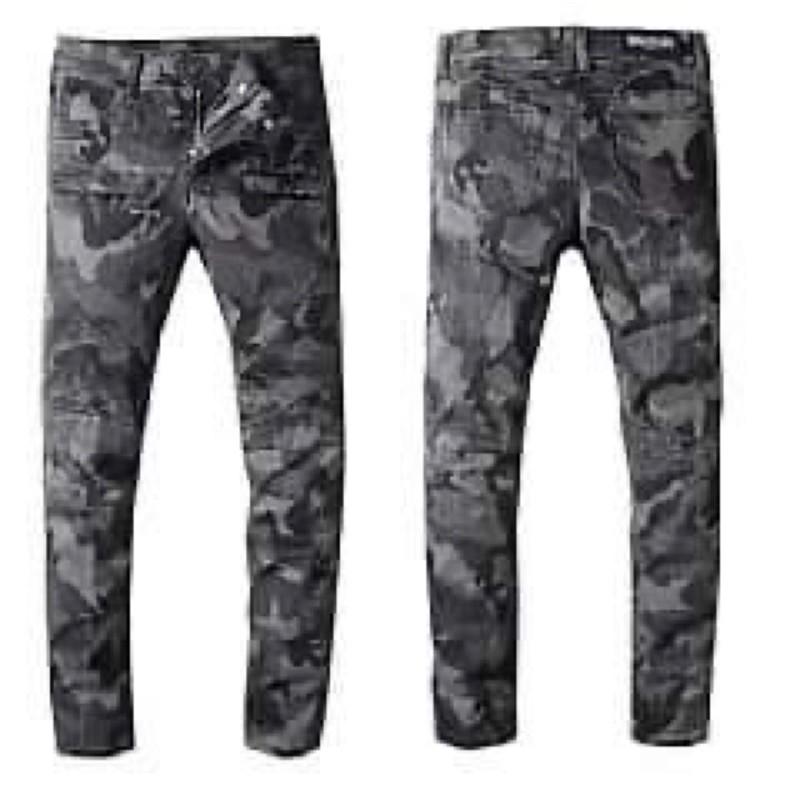 歐美原版BALMAIN牛仔褲系列 巴爾曼重工機車男款洗水破洞原單牛仔長褲