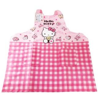 【正版授權】三麗鷗 HelloKitty 凱蒂貓 綁帶式圍裙 圍裙 廚房圍裙 臺南市