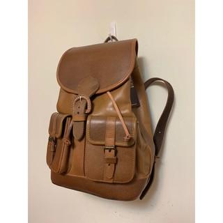 英國 全新 Beara Beara 牛皮質感抽繩後背包  可裝15寸筆電 上學出遊皆適用 台中市