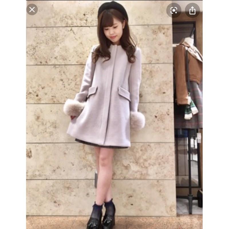 redyazel全新粉紫羊毛大衣