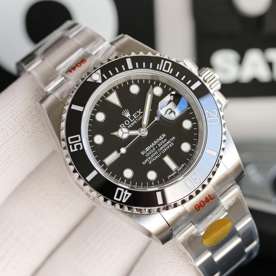 勞力士ROLEX手錶 潛行者水鬼系列 41mm 男士時尚商務腕錶 全自動機械機芯 機械錶 多功能夜光勞力士綠水鬼男錶
