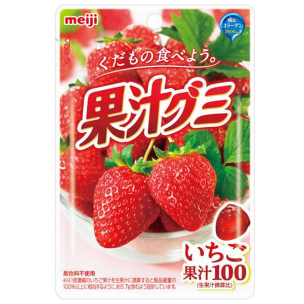 meiji明治果汁QQ軟糖-草莓【康是美】