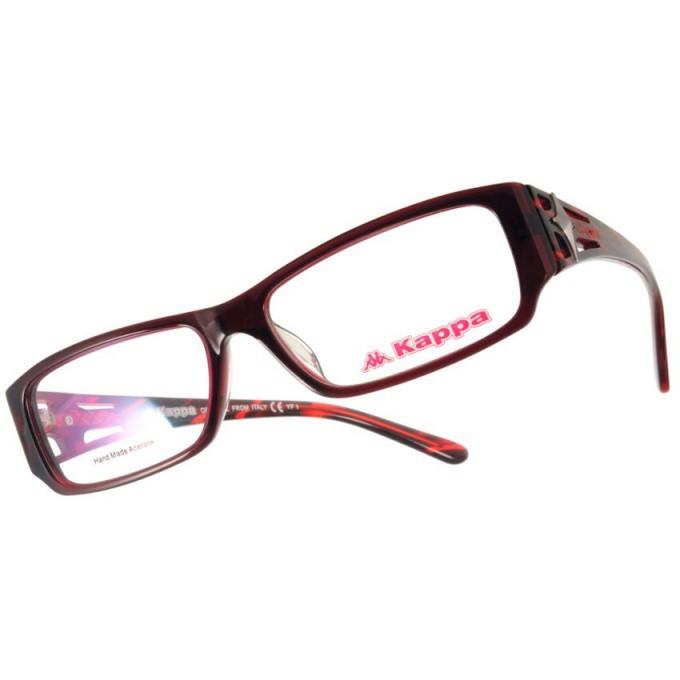 KAPPA 光學眼鏡 KP1013 RD 簍空設計時尚款-金橘眼鏡