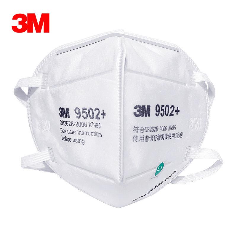 3M 9502+防塵口罩 防顆粒物頭帶式KN95級口罩
