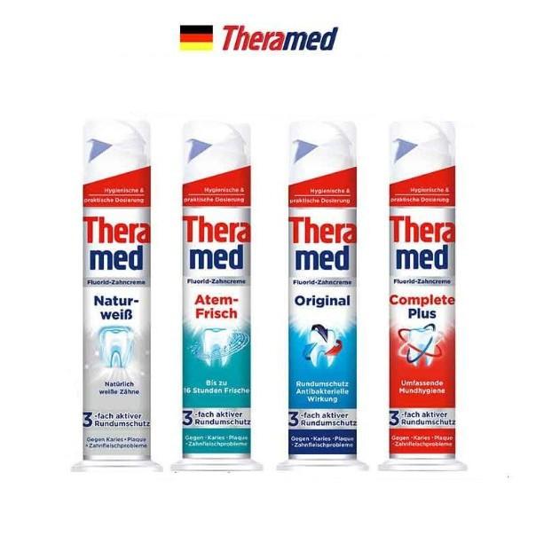 德國 Theramed 站立式牙膏 100ml 牙膏 口腔清潔 減少牙垢 舒緩 清潔口腔 預防蛀牙 德拉美