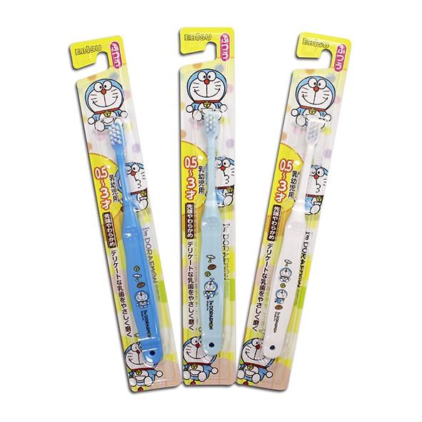 日本 EBiSU Doraemon哆拉a夢牙刷 0.5~3歲 隨機出貨