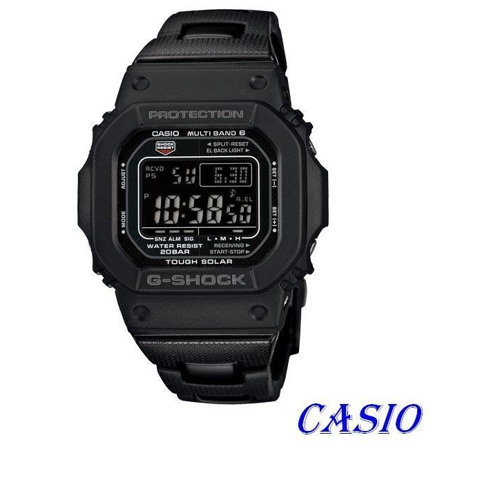 【歐買尬】CASIO卡西歐G-SHOCK 絕對強悍太陽能六局電波錶款 GW-M5610BC-1
