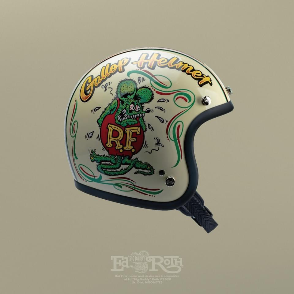 Gallop 老鼠芬克 Rat Fink 騎士帽 半罩式 3/4 安全帽 聯名款 內襯全可拆 DOT 雙D扣