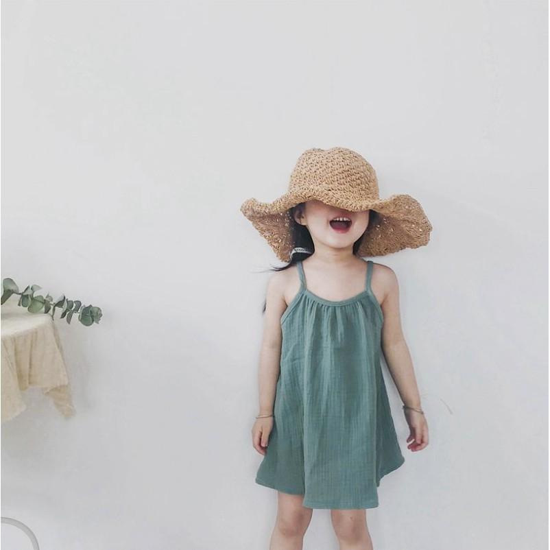 女童渡假休閒風洋裝  中小童洋裝 女童洋裝 女童連衣裙 女童連身裙 小童洋裝【蘋果小舖】(MI) 2104 A6