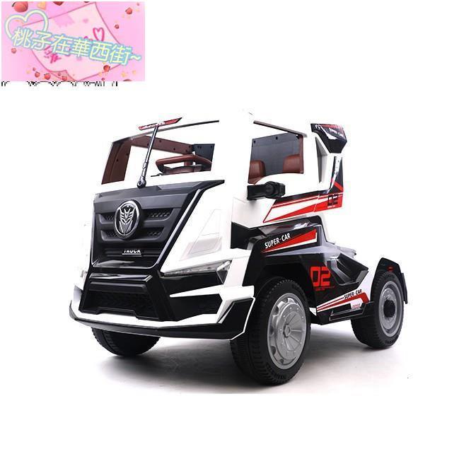 巨無霸卡車頭 雙驅兒童電動車 白色 (不含拖斗)