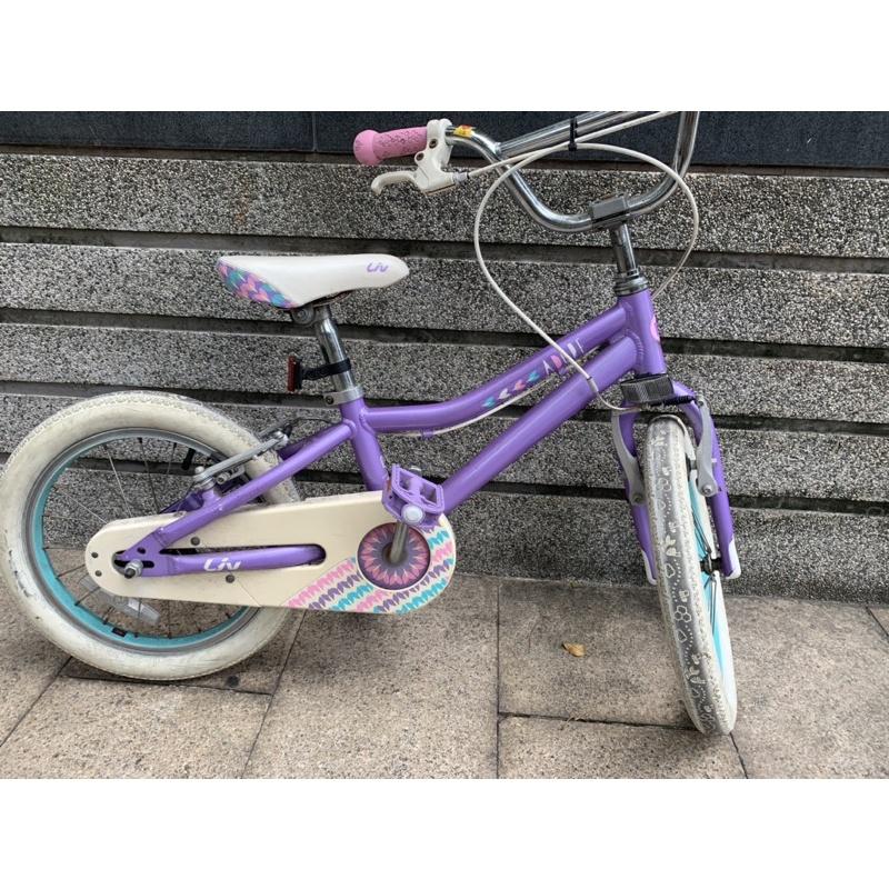 捷安特 ADORE 16吋兒童腳踏車/童車 紫色 二手