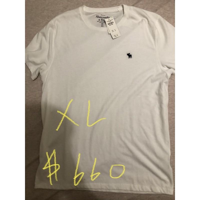 A&F白色短袖全新商品