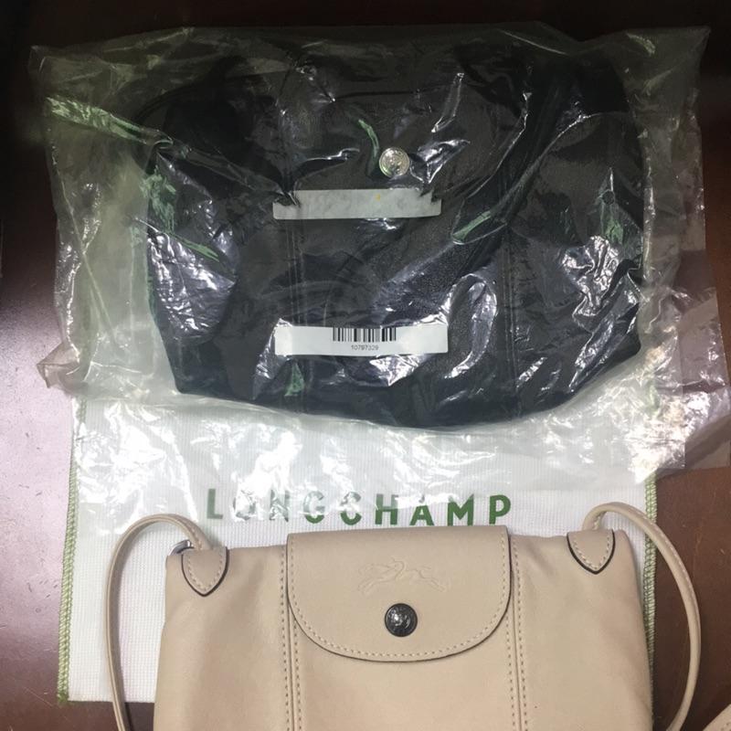 Longchamp 小羊皮肩背包全新黑色