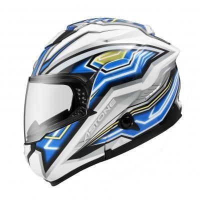【ASTONE】RT1300F AI2 (白藍) 玻璃纖維 航太複合材料 輕量化 可掀式安全帽 可樂帽 汽水帽