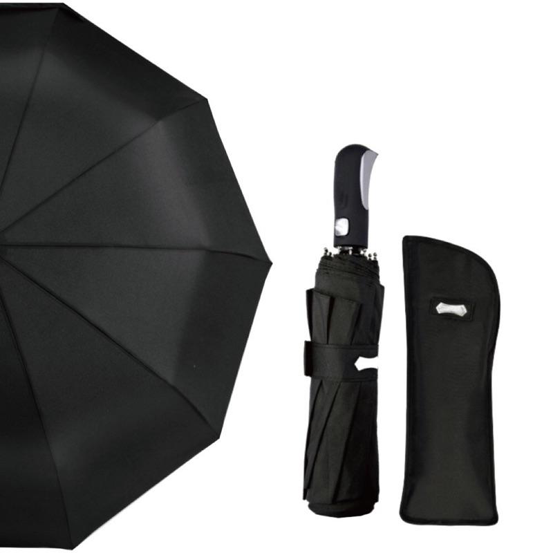 [城市雨]CTRain= 時尚質感開收黑膠晴雨傘