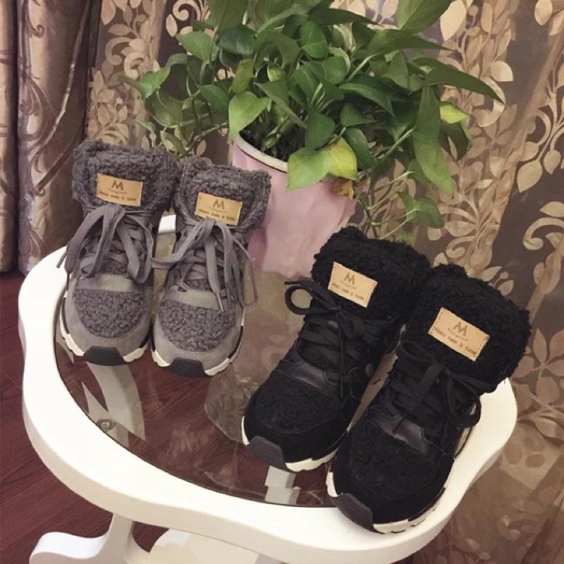 👍韓國 加厚保暖百搭運動鞋 內增高球鞋