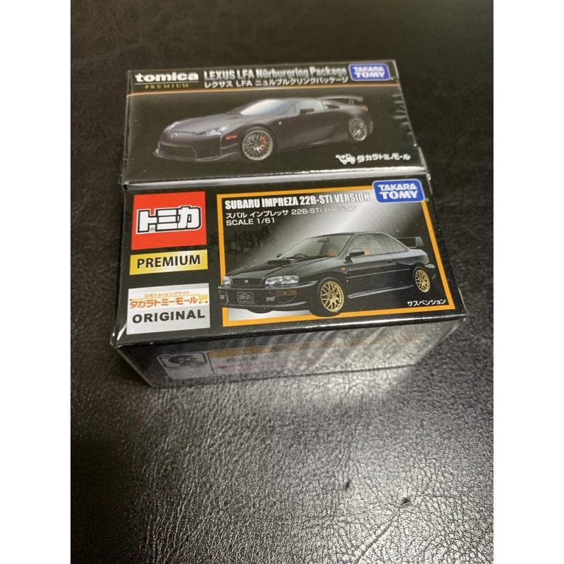 Tomica 黑盒 premium Subaru Impreza 22b LFA Sti 無碼