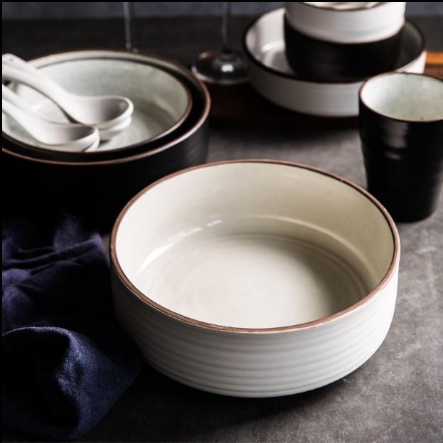 美尔小店日式拉麵碗湯碗大碗 個創意大號泡面碗 簡約家用陶瓷餐具