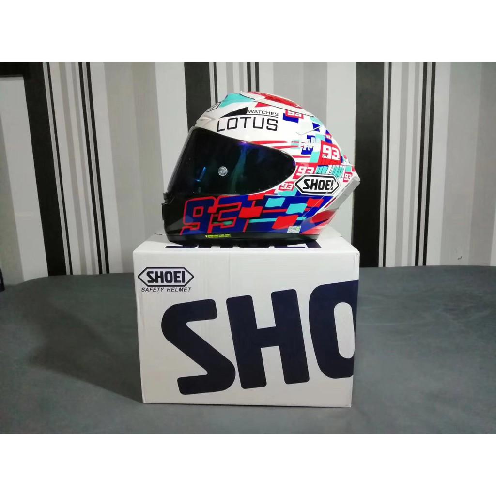 SHOEI X14 電源鍵螞蟻 全罩安全帽 頂配版 LOGO 安全雙D扣 男女四季通用 佩戴舒適