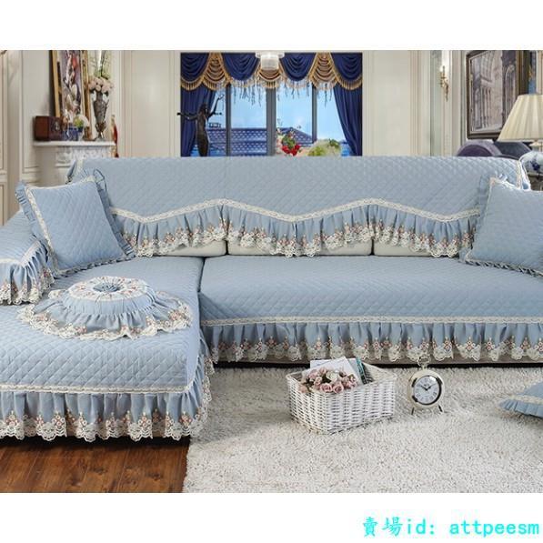 熱賣*歐式沙發墊四季通用布藝純棉簡約現代坐墊皮沙發罩全蓋全包沙發套