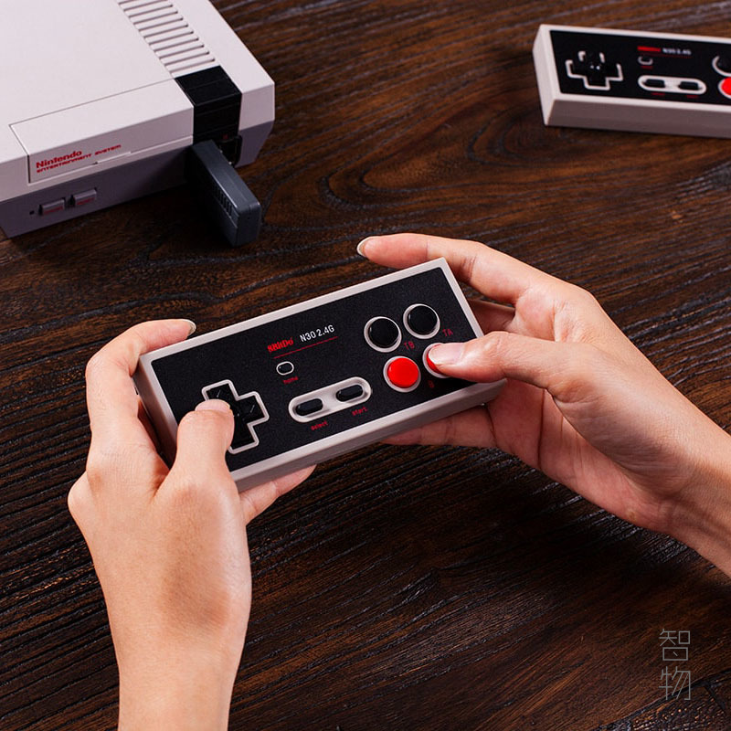 八位堂N30 2.4G經典無線手柄NES迷你遊戲機隨插即用可連發8Bitdo