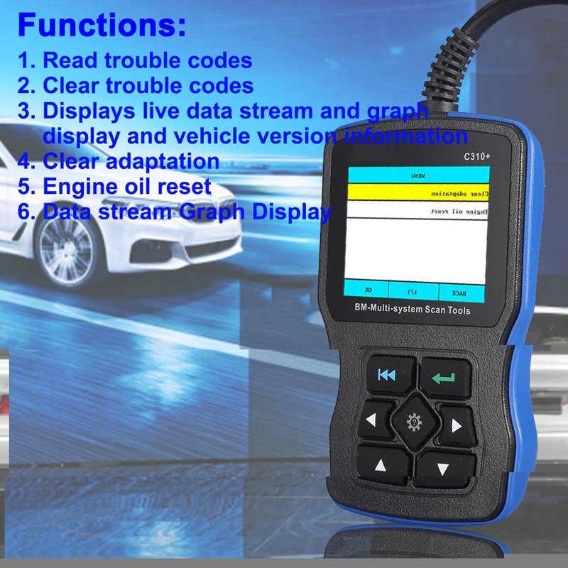 Creator C310 +安全氣囊/ ABS / SRS診斷工具,用於BMW Code Reader發動機機油重置