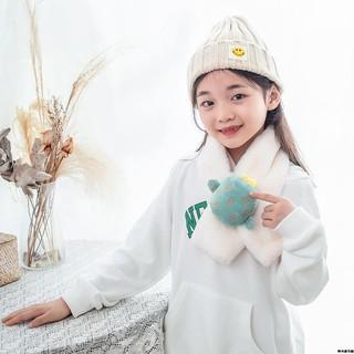 下殺價韓版兒童圍巾秋冬季毛絨仿羊絨可愛寶寶圍脖男童女童毛毛圍巾 嘉義市