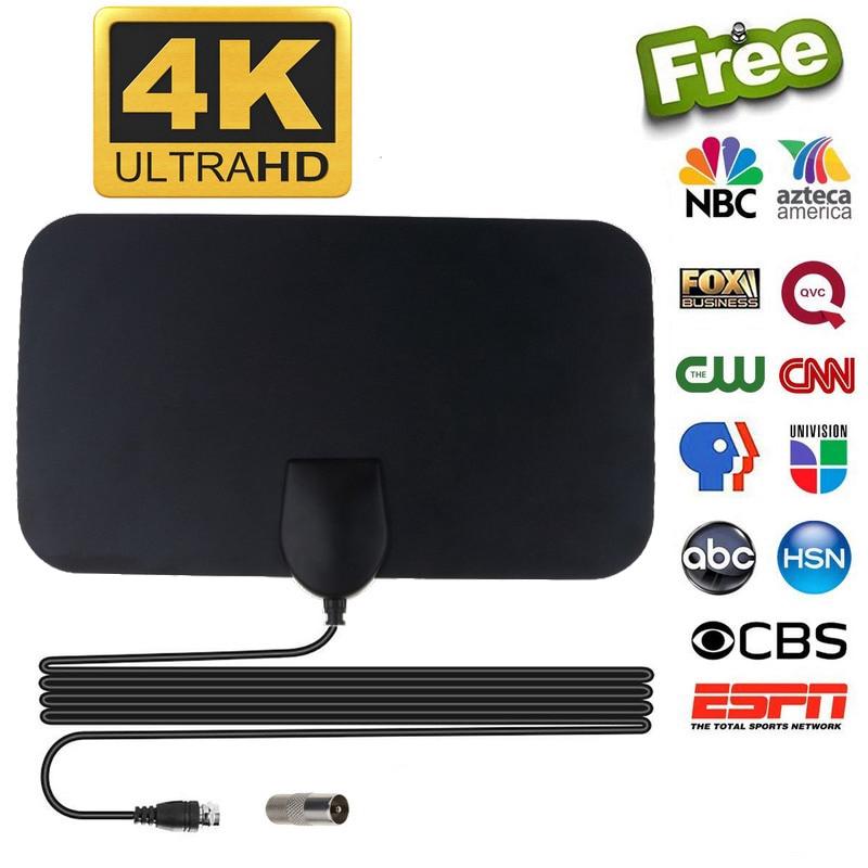 4K 50英里高清電視室內電視天線天線高清數字電視信號增強器