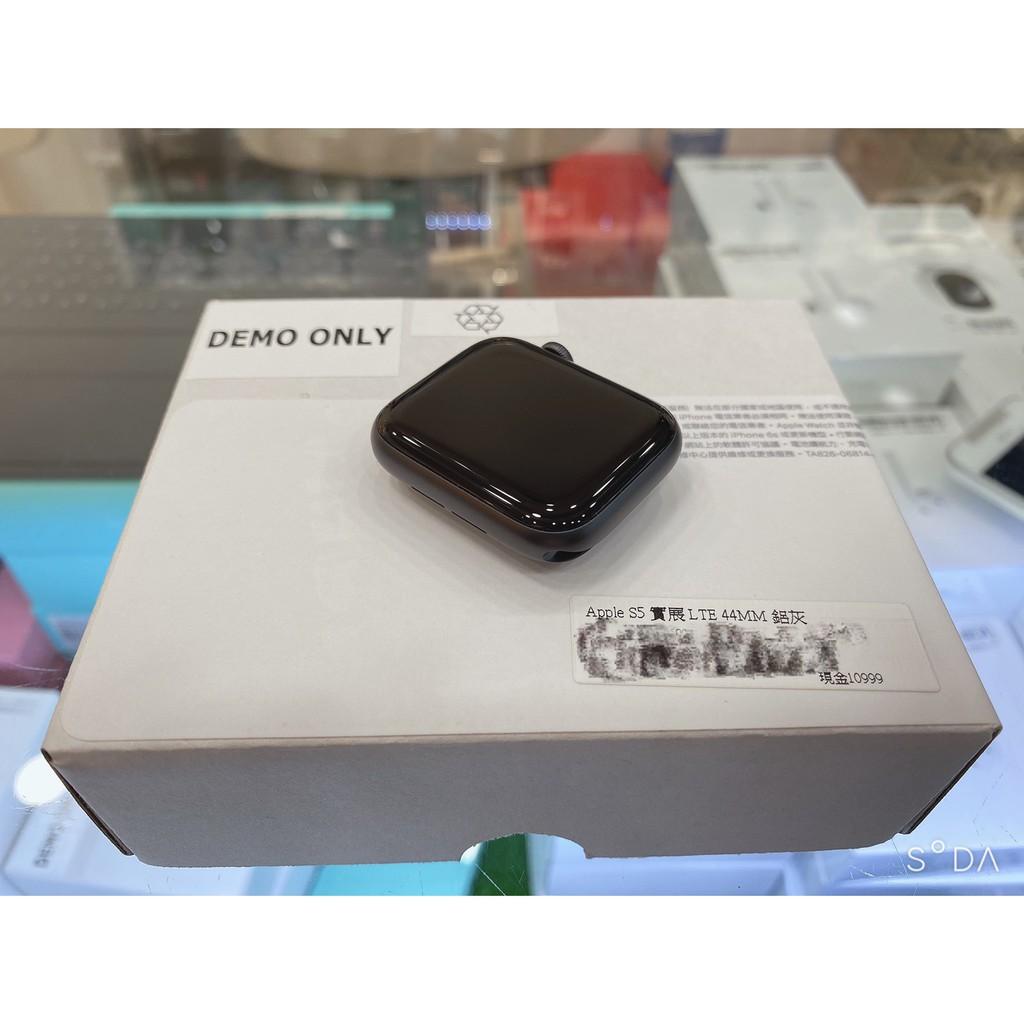 【西瓜通訊】高雄有店面 盒裝9.9成新 Apple Watch Series 5 實展機 (LTE) 44mm 鋁灰