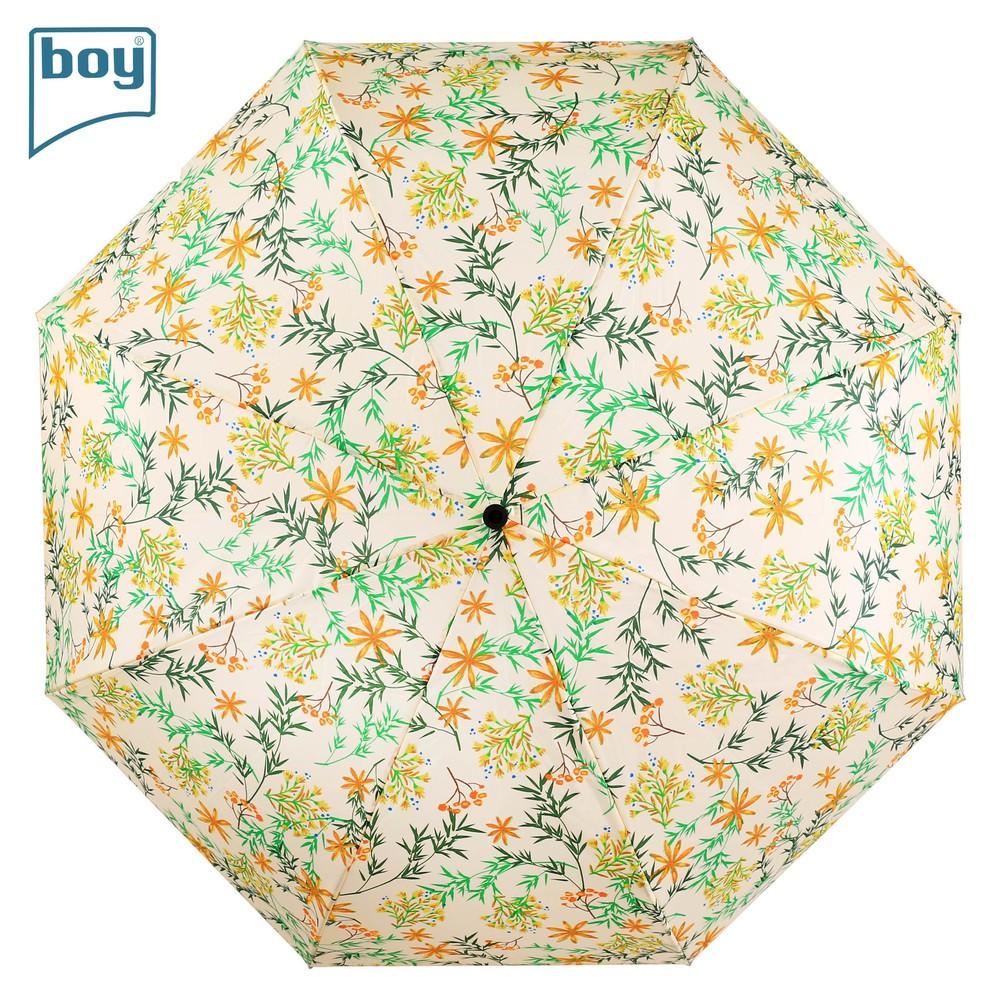 【德國boy】大傘面三折都市印象晴雨傘(錦簇藍/錦簇黃)