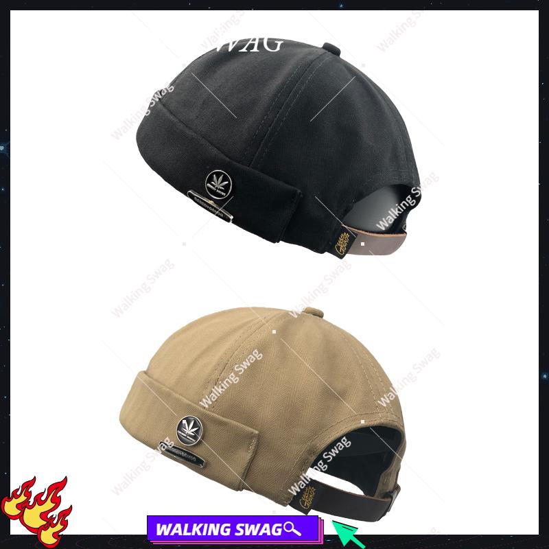 Wk$wagMiki Hat原創潮牌嘻哈個性復古街頭水手瓜皮帽子雅痞流氓地主帽