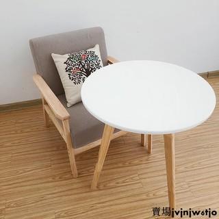 現貨實木茶幾白色小圓桌簡約美式咖啡桌迷你北歐陽臺邊幾角幾休閑邊桌 台北市