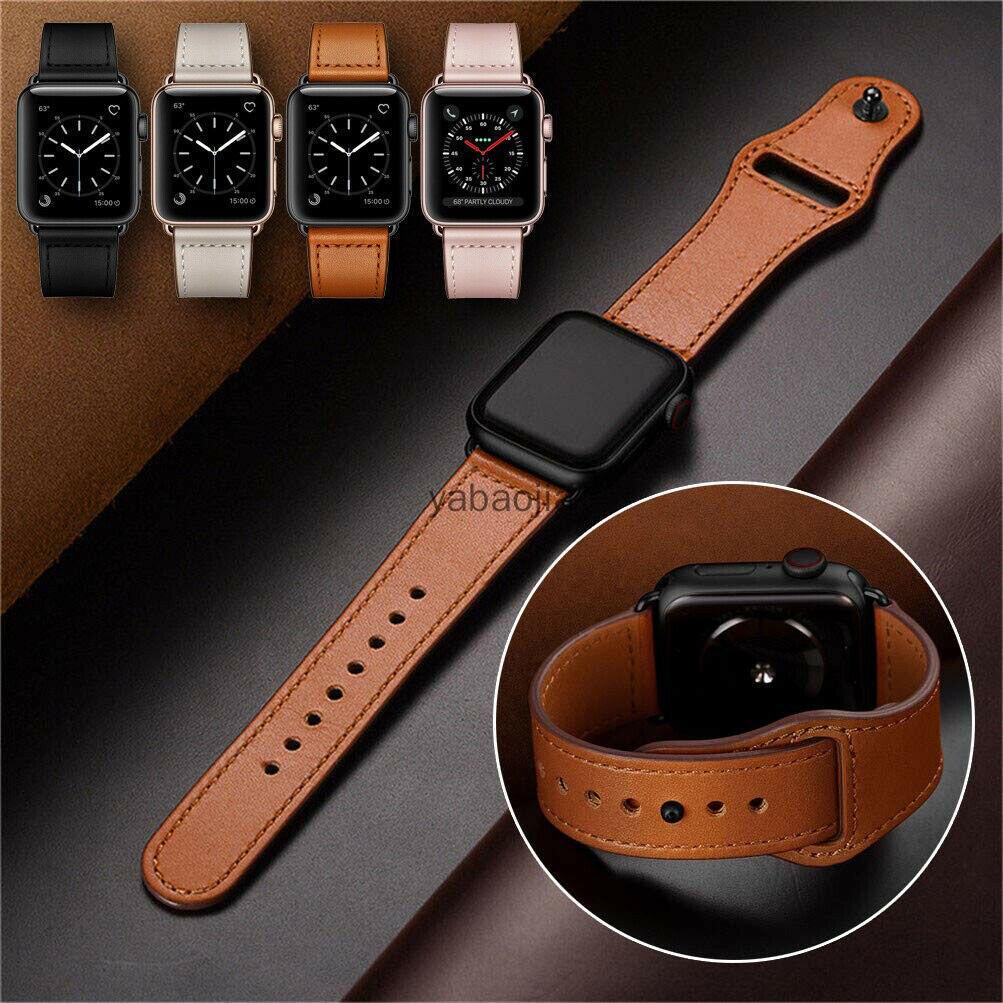 Apple Watch錶帶 蘋果錶帶 真皮錶帶 SE/6/5/4/3/2/1 防水錶帶 復古錶帶