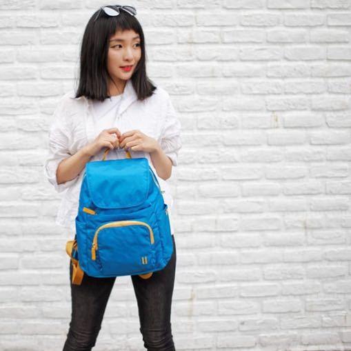 ☆SUMDEX☆人體工學設計 高級後背包 網路最低價 經典 商務 後背包 都會 時尚 平板包 筆電包 765PL 天藍色