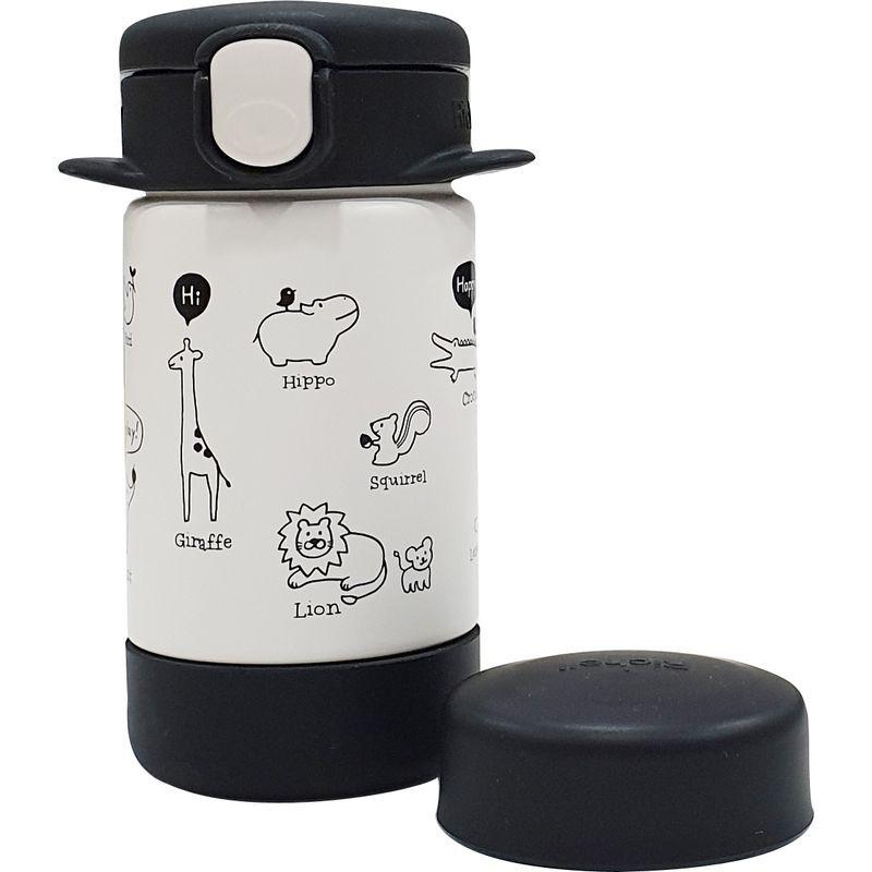 【衛立兒生活館】Richell 利其爾 隨身型兩用不鏽鋼保溫杯160ml-俏皮黑