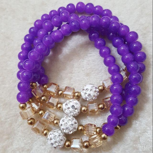 4圈紫玉隨白鑽球