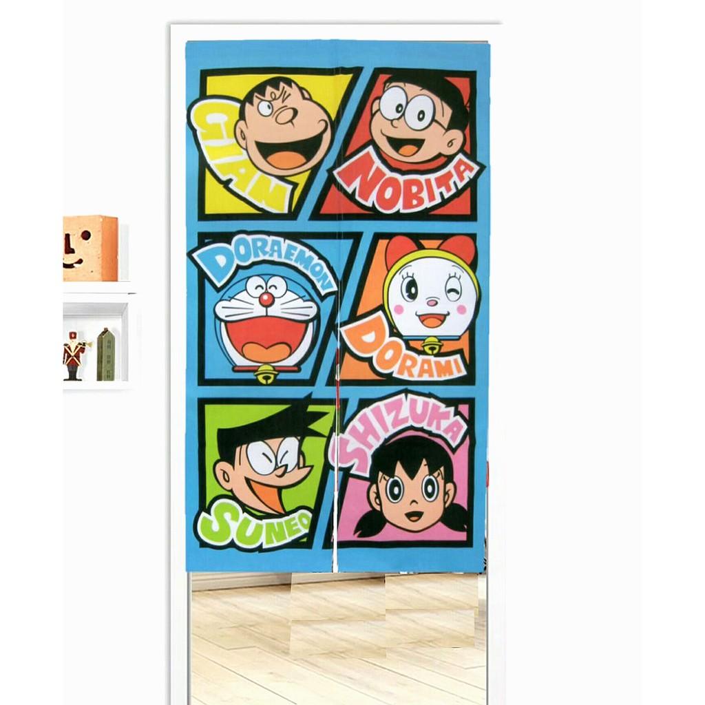 卡漫城 - Doraemon 長 門簾 六角色 85x150cm ㊣版 台灣製 小叮噹 哆啦A夢 多啦 A夢 窗簾