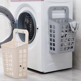 👉新品特惠👈⭐現貨⭐日式吸盤掛式髒衣 籃髒衣服 收納筐 塑膠 收納籃 髒衣簍洗衣籃