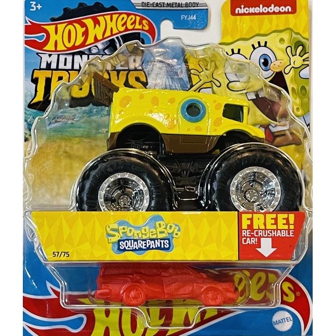 風火輪 Hot Wheels 日版 Monster Trucks 怪獸卡車 大腳車 海棉寶寶