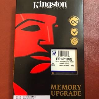 Kingston KVR16R11D4/ 16 16GB DDR3 REG ECC DIMM MEMORY RAM 高雄市