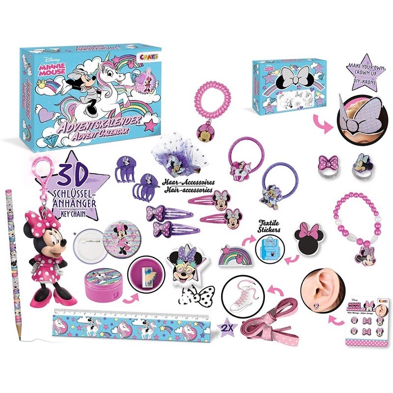 德國 CRAZE 米妮 Minnie Mouse聖誕降臨曆 聖誕 倒數降臨曆 聖誕日曆