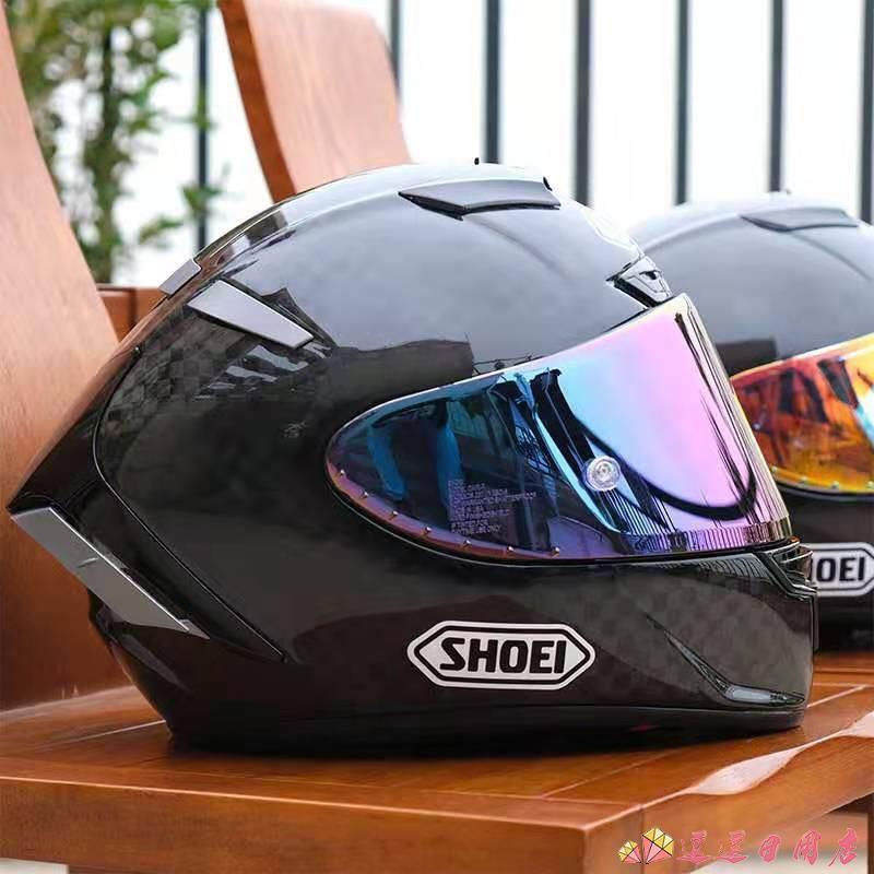 現貨 機車騎士個性安全帽摩托車SHOEI頭盔全盔X14碳纖維紅招財螞蟻復古馬奎斯機車男四季 「逗逗」