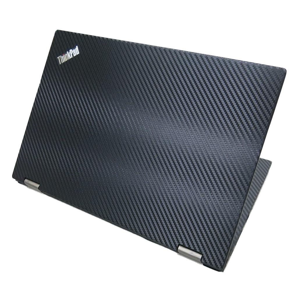 【Ezstick】Lenovo ThinkPad L13 YOGA 黑色Carbon紋 機身貼(上蓋貼、鍵盤週圍貼、底部