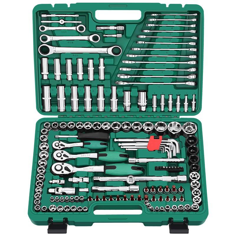 套管汽修組套套筒扳手套裝快速棘輪修車工具組合套頭汽保輪胎拆卸