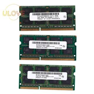 適用於筆記本電腦筆記本的DDR3 SO-DIMM DDR3L DDR3 1.5V內存RAM(2GB /  1066)
