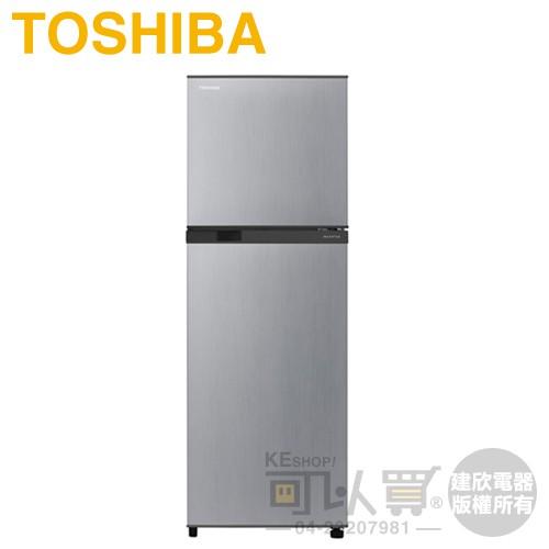 TOSHIBA 東芝 ( GR-A28TS(S) ) 231L 變頻無邊框雙門冰箱-典雅銀《送基本安裝 舊機回收》