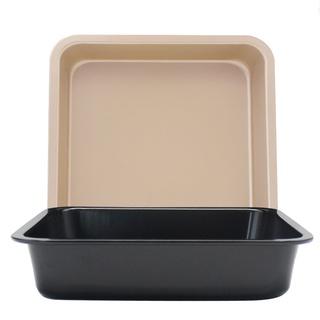 五折優惠  DIY正方形烤盤 不粘蛋糕模 6吋8吋正方形烤盤 披薩盤 蛋糕模具