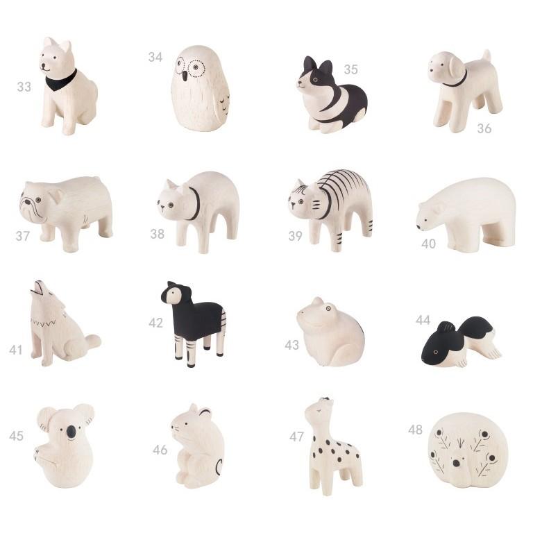 [偶拾小巷] 日本 T-Lab 手刻原木小動物系列 (3)