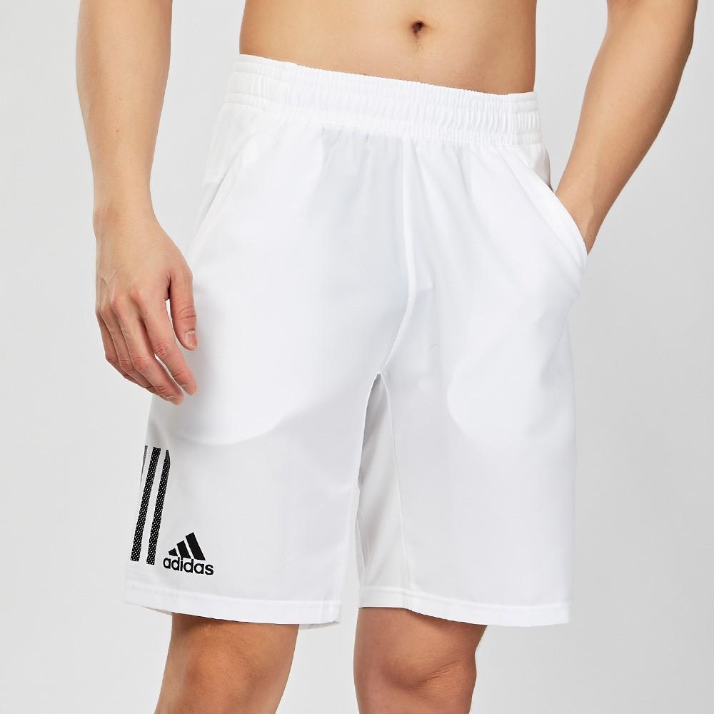 Adidas TENNIS CLUB 3STR SHORT 男款 白色 運動 透氣 網球 短褲 DP0302