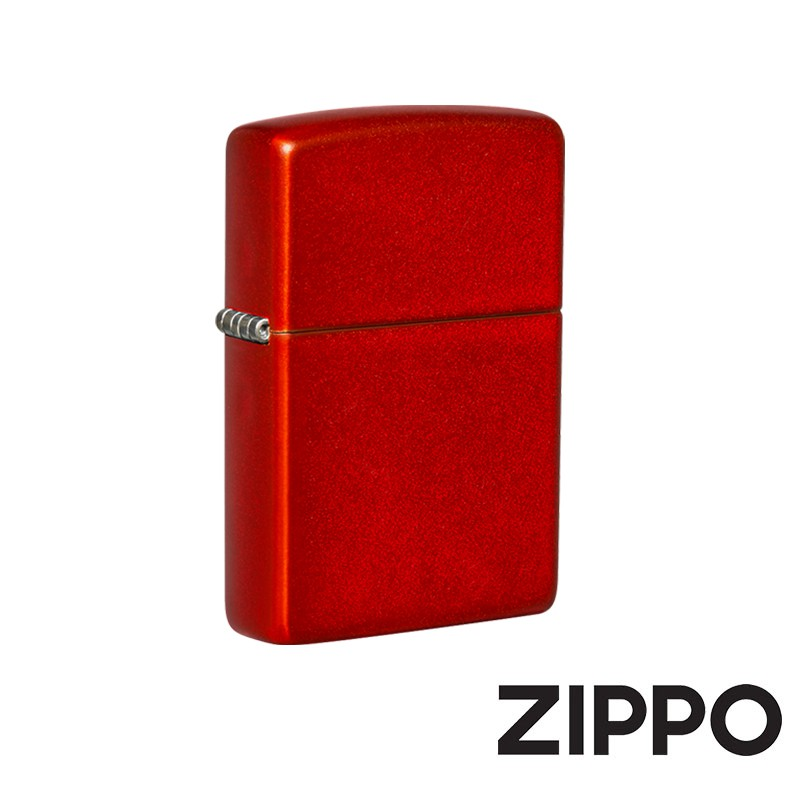 ZIPPO 金屬紅色(素面)防風打火機 經典素面  49475
